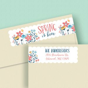 Spring is Here Wrap Around Address Labels