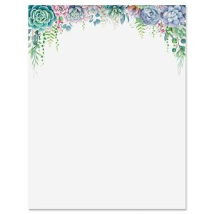 Floral Border Letter Papers