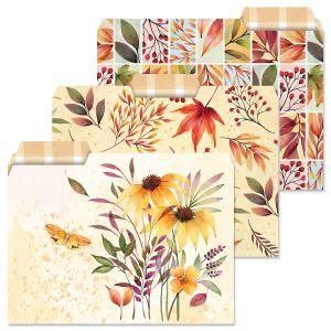 Autumn Flourish File Folders