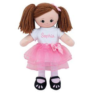 Brunette Ballerina Personalized Doll