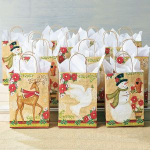 traditional holiday gift bag set