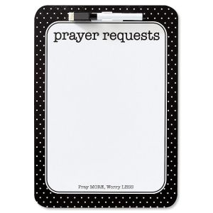 Prayer Requests Inspirational Dry Erase Board