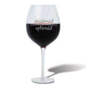 Optimist-Pessimist Giant Wineglass