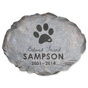 Personalized Beloved Friend Pet Memorial Stone