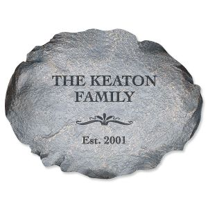 Personalized Our Family Garden Stone