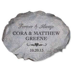 Personalized Forever and Always Garden Stone