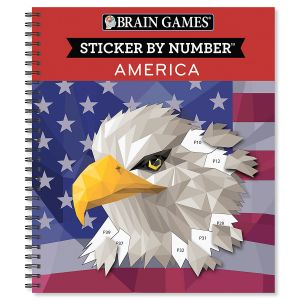 Sticker by Number America Features Book Brain Games®