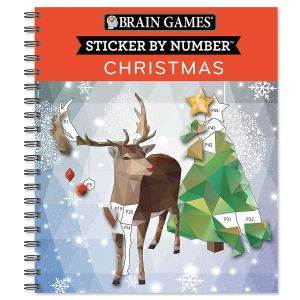 Christmas Sticker by Number Brain Games®
