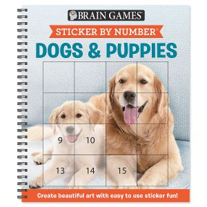 Sticker by Number Dogs & Puppies Brain Games