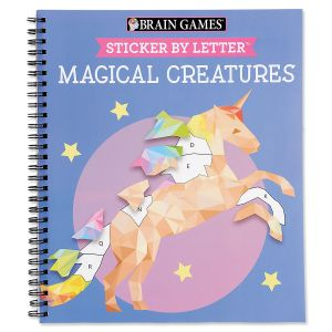 Magical Creatures Sticker by Letter Brain Games®