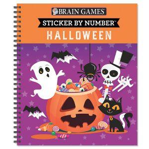 Halloween Sticker by Number Brain Games®