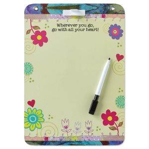 All Your Heart Inspirational Dry Erase Board