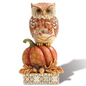 Harvest Owl on a Pumpkin by Jim Shore