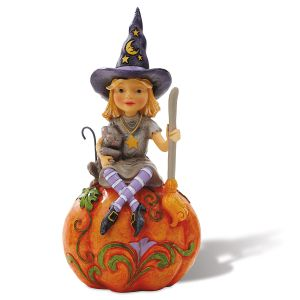 Witch on Pumpkin Figurine by Jim Shore