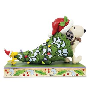 Snoopy & Woodstock Holding Tree Figurine by Jim Shore