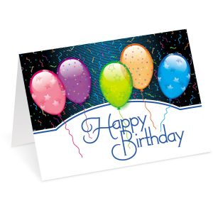 Birthday Balloons Cards Seals