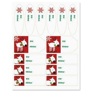 Reindeer Holiday Labels