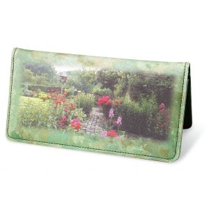 Gorgeous Gardens Premium Checkbook Cover