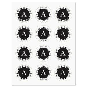 Black & White Monogram Stickers
