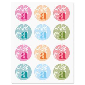 Color Monogram Stickers