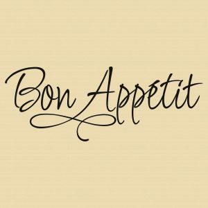 Bon App&#233tit Vinyl Wall Words