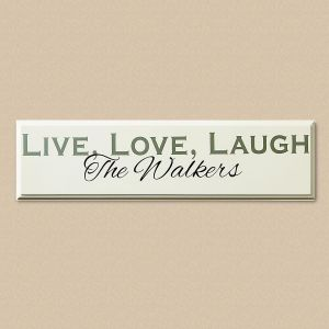 Live, Love, Laugh Wood Plaque