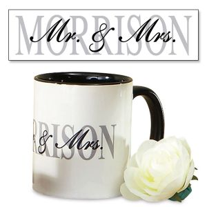 Mr. and Mrs. Personalized Mugs - 2 Mug Set