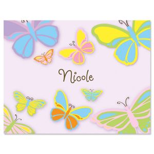Pastel Butterfly Personalized Note Cards