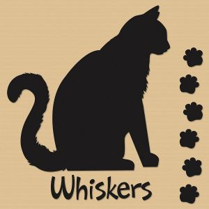 Cat Silhouette Personalized Wall Vinyl