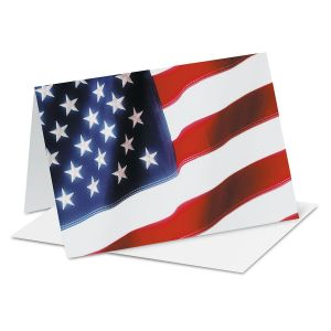 Patriotic Stars and Stripes Note Cards