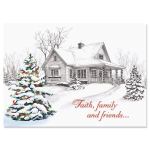 winter home christmas cards - Non Photo Christmas Cards