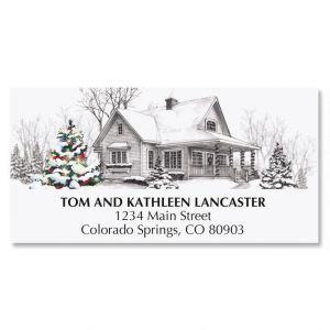 Winter Home Christmas Address Labels
