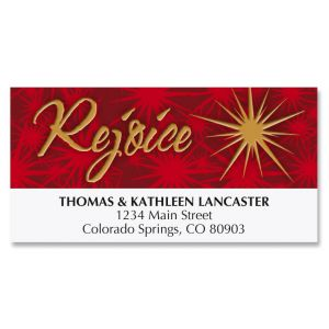 Tree of Faith Christmas Address Labels