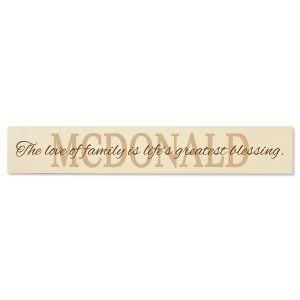 Love of Family Wood Plaque