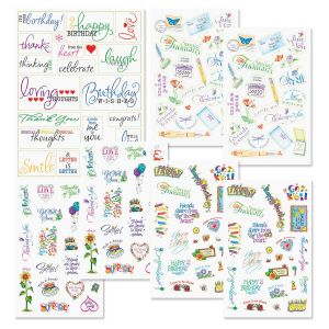 Clear Correspondence Stickers