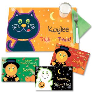 Halloween/Thanksgiving Personalized Kids' Placemat