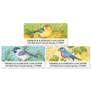 Birds and Flowers  Address Labels  (3 designs)