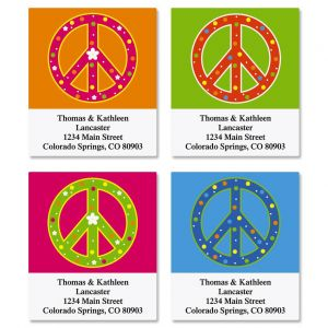 Peace Sign Select Address Labels  (4 designs)