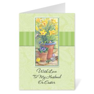 To My Husband Easter Card