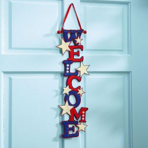 Patriotic Welcome Door Banner
