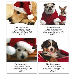 Christmas Dogs Address Labels  (4 designs)