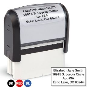 Standard Self-Inking Address Stamp
