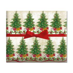 Classic Christmas Tree Jumbo Rolled Gift Wrap