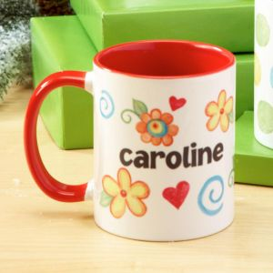 Floral Personalized Name Mug