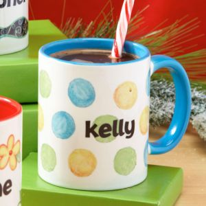 Dots Personalized Name Mug