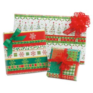 Happy Holly Days Folded Gift Wrap - BOGO