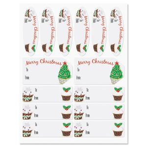 Christmas Cupcake Labels