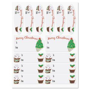 Christmas Cupcake Labels