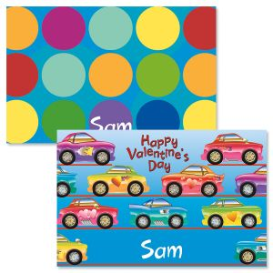 Race Cars Valentine Placemats