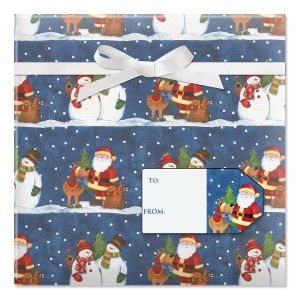 Winter Snowpals Jumbo Rolled Gift Wrap and Labels